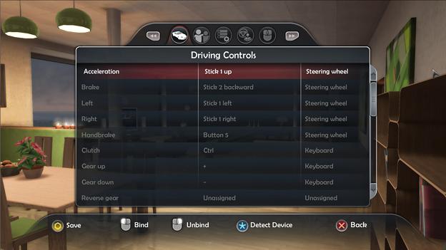 写真: tdu2 control setting