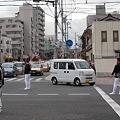 写真: 交通整理
