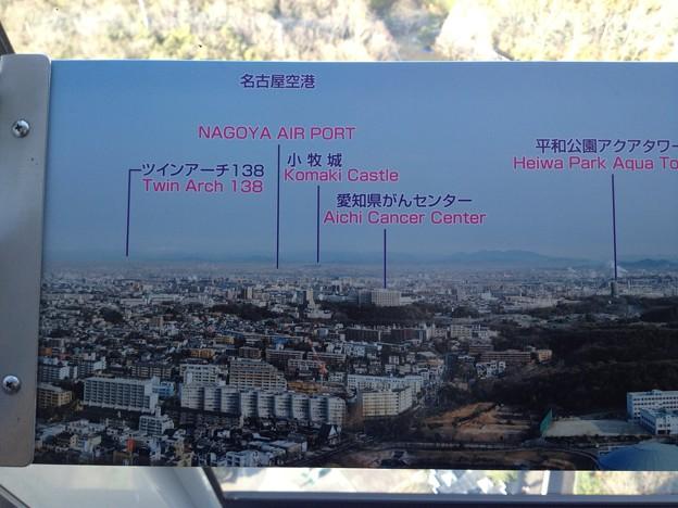 東山スカイタワー_52:展望室からの景色(案内板)