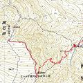 ミカブリ岳の地図