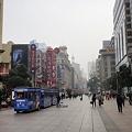 Photos: 師走の上海南京東路歩行街と電動車
