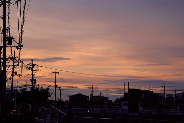 まったりと夕空