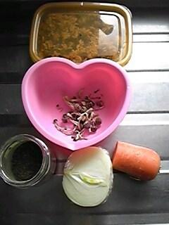 2012年2月29日のお昼ご飯の食材