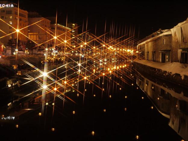 小樽運河の灯り