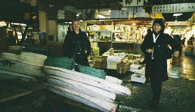 Freezing Tsuna in the Fish Market@Tsukiji