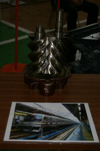 電動空気圧縮機ローター E217系用 東京総合車両センター