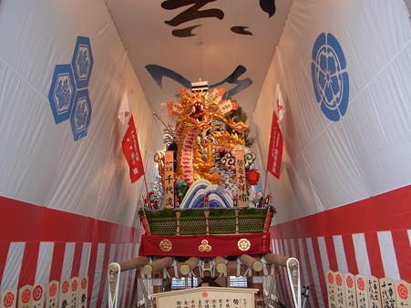 33 博多祇園山笠 千代流 舁き山 黄金のドラゴン 勢竜吉祥瑞(せいりゅうきっしょうのしるし)2012年 写真画像