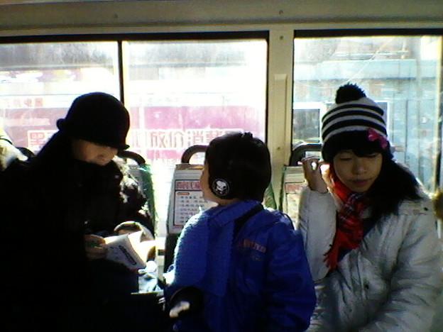 バスでハルピンの街見物