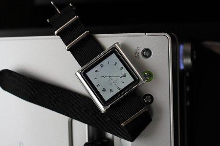 2012.01.15 机 nanoにCASSIS NATOタイプ時計ベルト