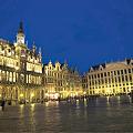 写真: ベルギー ブリュッセル グランプラスライトアップ