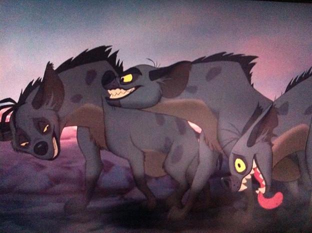 ライオンキング ハイエナ三匹