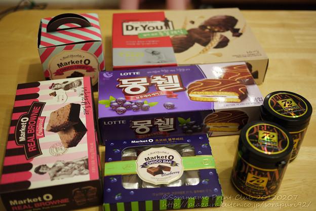 ロッテマートで買ったチョコ菓子