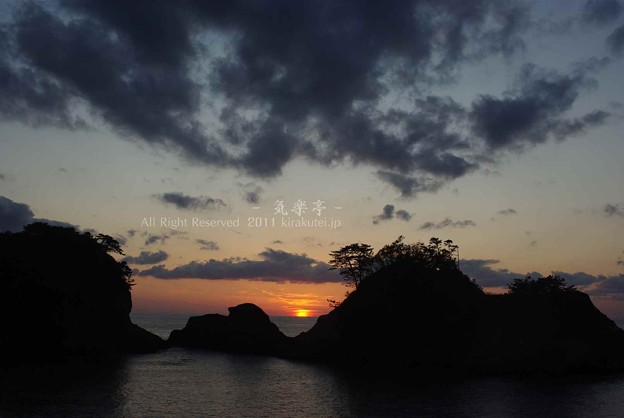 写真: 昨年末の夕焼け