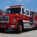 写真: 米軍の消防車