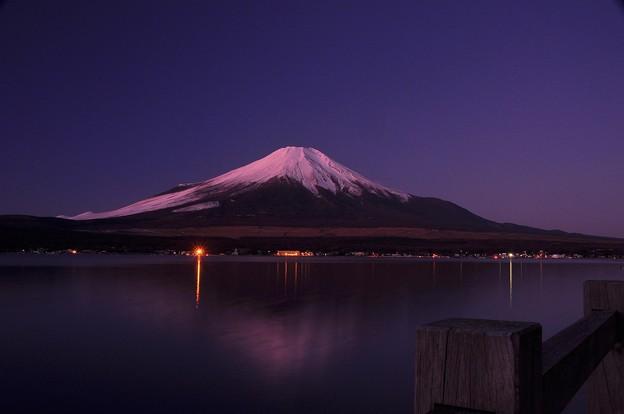 赤らめた富士山。。。