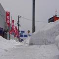 Photos: 歩道の雪