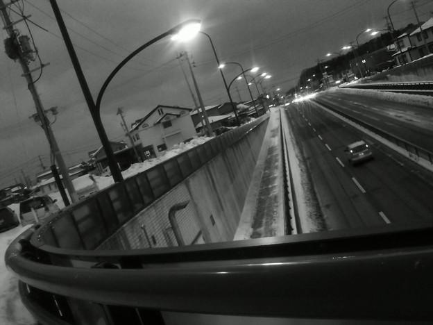 いつもの幹線道路&街路灯